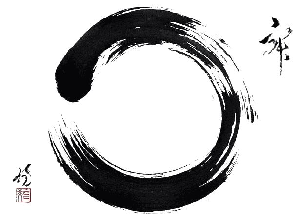 The Enso Circle is a symbol in the Zen school of Buddhism